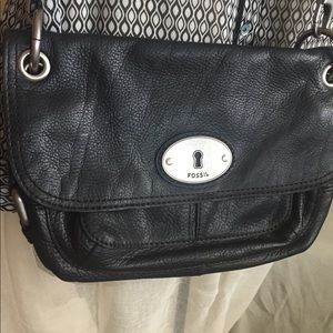Fossil soft black leather purse